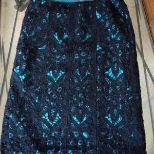 Black Laced Skirt By Betsy Johnson